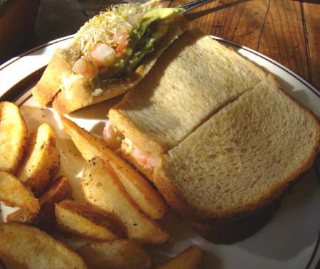 THE GREAT BURGERのサンドイッチ