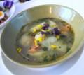 フィンランドカフェのサーモンとじゃがいものスープ ディル風味