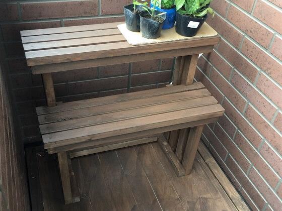 ガーデニング用 2段ステップ 棚 DIY