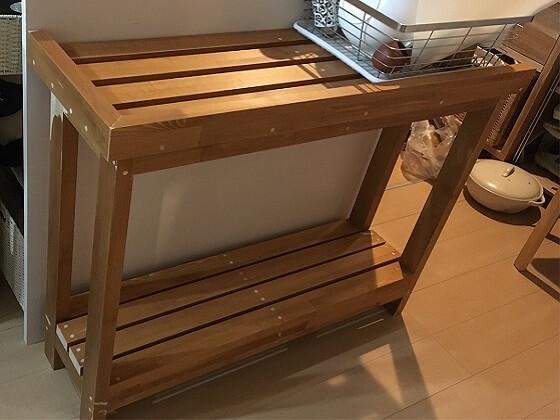 キッチン脇設置用の棚 DIY