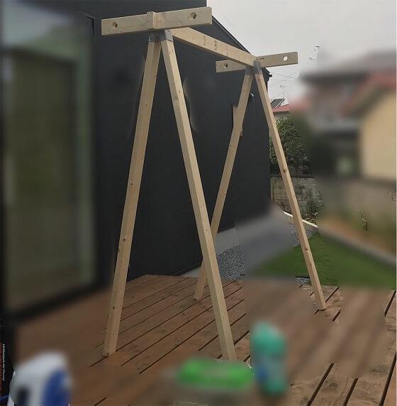 物干し DIY ソーホースブラケット