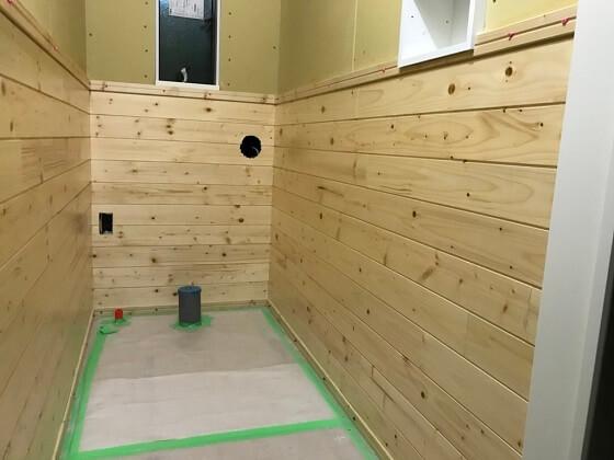 トイレ 板張り DIY 木工 ホームセンター