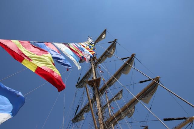 帆船の画像