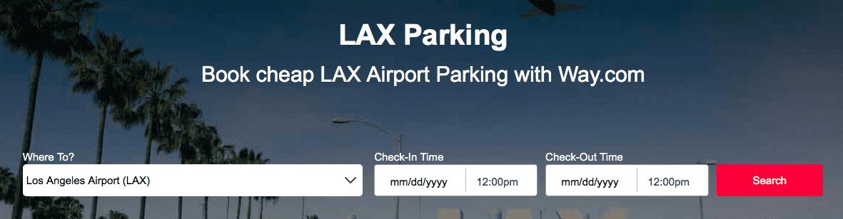 LAX Parkingの入力画面