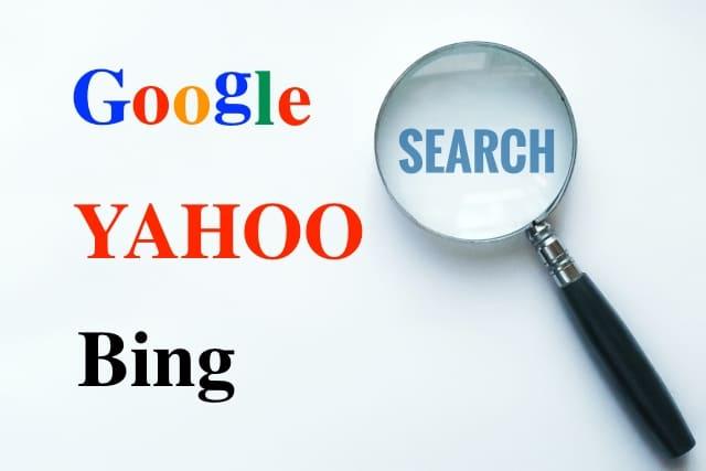 Google、Yahoo、Bingと書かれた画像