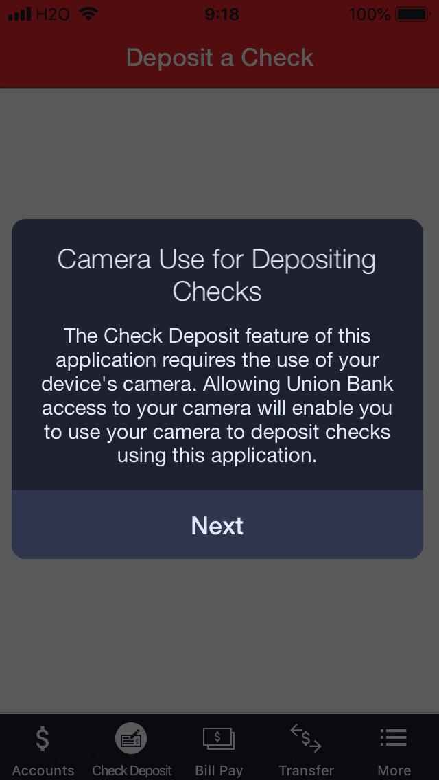 Check Depositの手順2