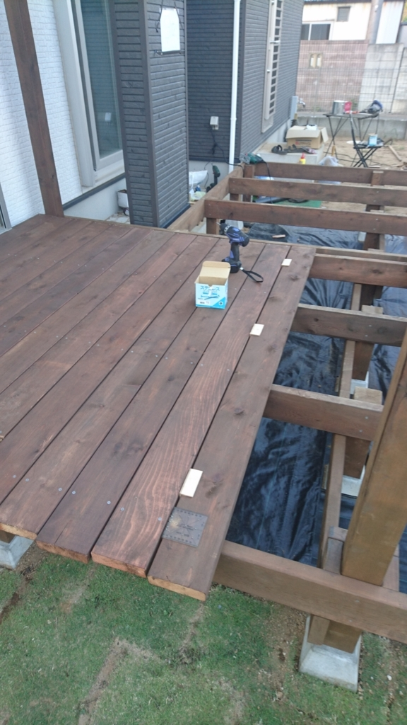 DIYウッドデッキの床板床板