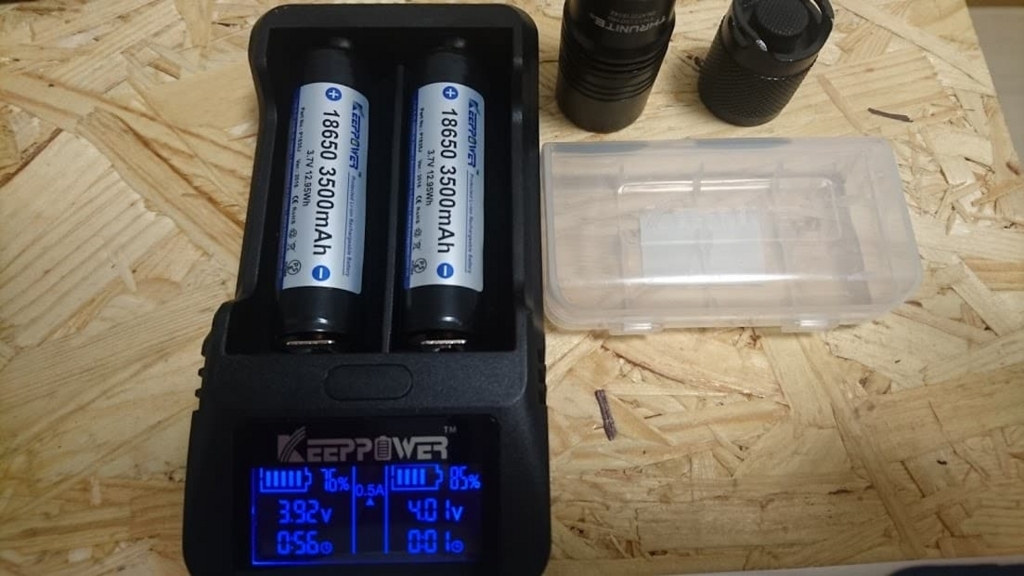 KEEPPOWERリチウムイオン電池の充電