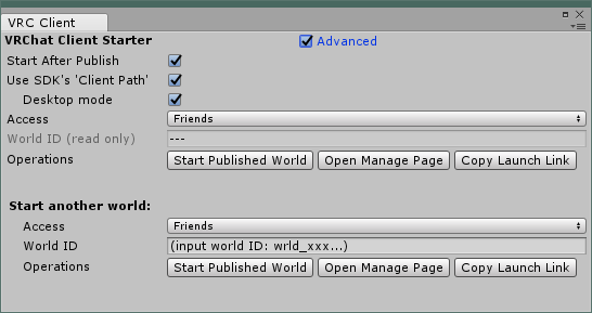 advanced UI mode sample