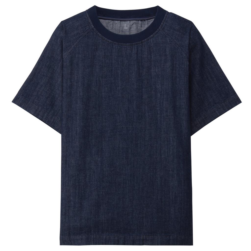18SS 無印良品 フレンチリネン UVカットクルーネックカーディガン 婦人 グレー サイズM 新品 麻 MUJI LABO ムジラボ 正規店舗 購入正規品
