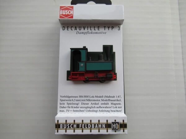 "BUSCH 12141 HOf (1/87,6.5mm) ドコービル ""Decauville"" Type 3 (Dimitriasモデル)"