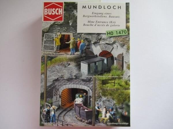 BUSCH 1470 HOf (1/87) 鉱山鉄道入口 (単線用)
