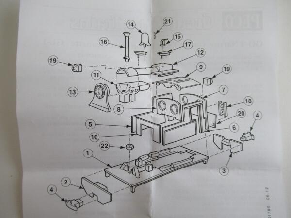 PECO GL-1 OO-9(9mm,1/76) Jeanette Loco Body Kit ホワイトメタル ロコボディキット