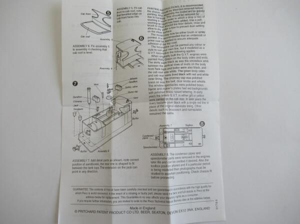 PECO GL-6 OO-9(9mm,1/76) 0-6-0 Tram Loco Body Kit ホワイトメタル ロコボディキット