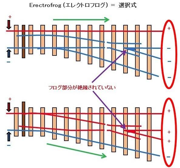選択式(エレクトロフログ)と非選択式(インサルフログ)の3つの違いをPECOのポイントレールで解説
