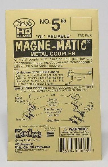 ケーディー NO.5 HO用 マグネマティックカプラー