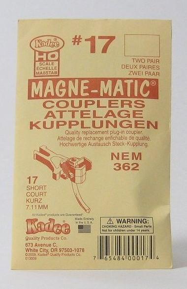 ケーディー NO.17 HO用 マグネマティックカプラー