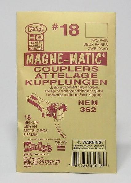 ケーディー NO.18 HO用 マグネマティックカプラー