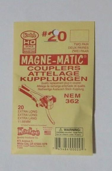 ケーディー NO.20 HO用 マグネマティックカプラー