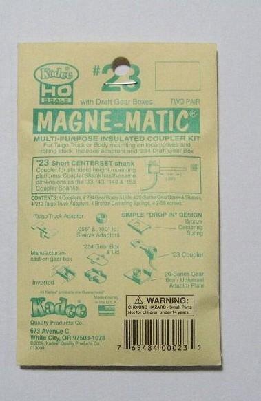 ケーディー NO.23 HO用 マグネマティックカプラー
