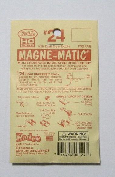 ケーディー NO.24 HO用 マグネマティックカプラー