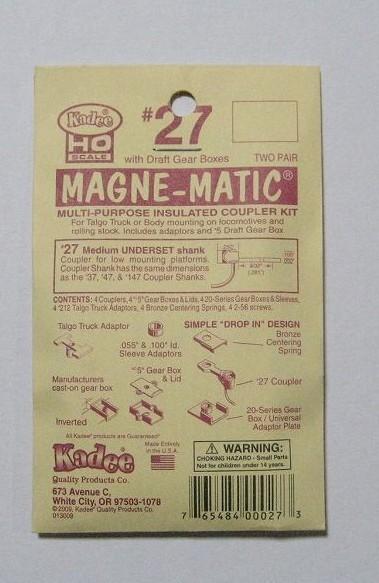 ケーディー NO.27 HO用 マグネマティックカプラー