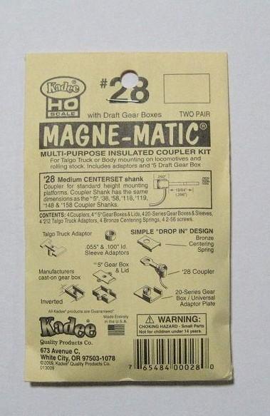 ケーディー NO.28 HO用 マグネマティックカプラー