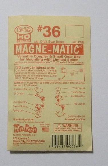 ケーディー NO.36 HO用 マグネマティックカプラー