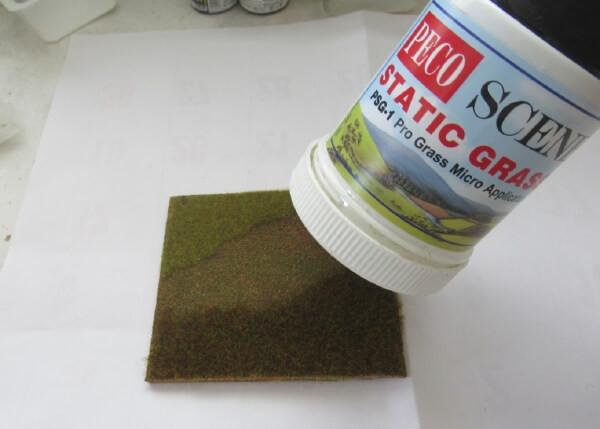誰でも簡単にできる!ジオラマの草原の作り方!