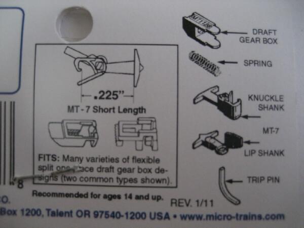 マイクロトレインズ 130012 #1128 N用 マグネマティックカプラー ショートシャンク (4個入/2輌分)