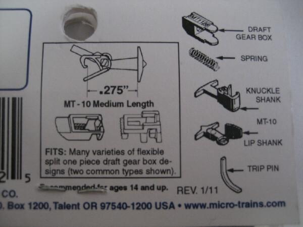 マイクロトレインズ 130013 #1129 N用 マグネマティックカプラー ミディアムシャンク (4個入/2輌分)