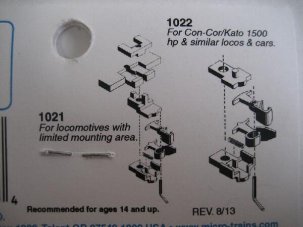 マイクロトレインズ 102021 #1021/1022 N用 マグネマティックカプラー (4個入/2輌分)
