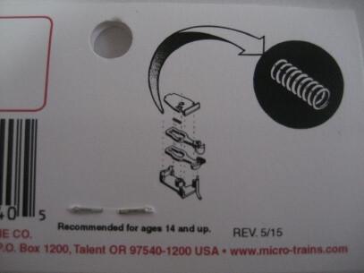 マイクロトレインズ 112001 #1952 N用 交換用センタースプリング N-1 (12個入)