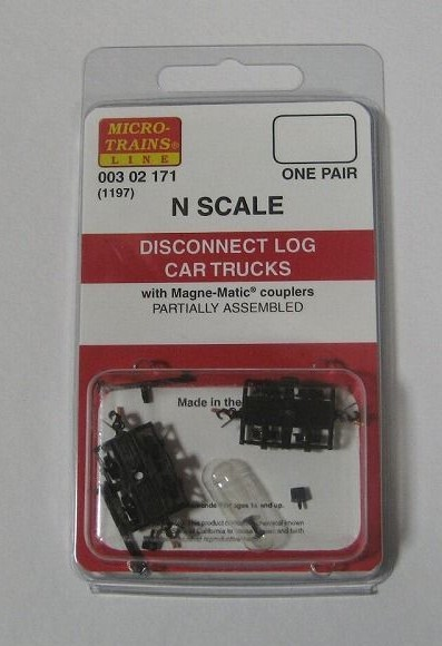 マイクロトレインズ 302171 #1197 N用 ディスコネクト ログカー台車 (2個入/1輌分)