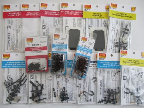 マイクロトレインズのZゲージおよびNナロー用カプラーほかの商品画像一覧