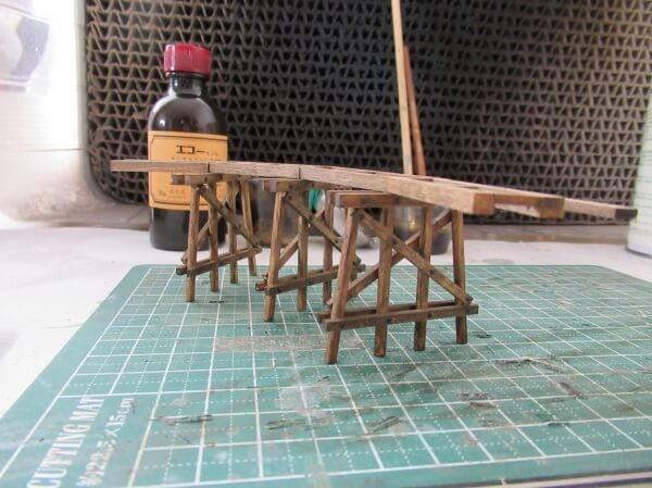 ティンバートレッスルのあるHOナローゲージのミニパイクを作る