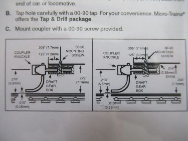 マイクロトレインズ #1015-1 N用 マグネマティックカプラー ショートシャンク (4個入/2輌分) 組立済み