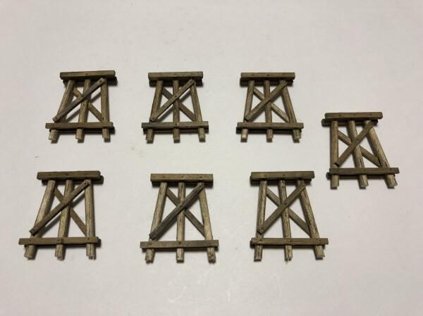 9.橋脚をセットしてレールを修正する