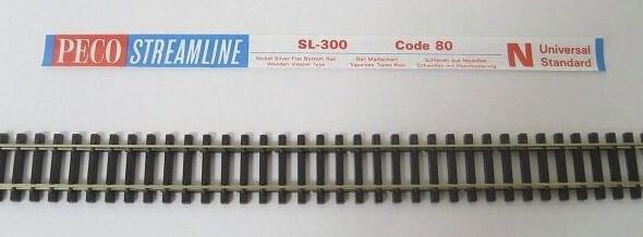 PECO SL-300 Nゲージ(9mm) フレキシブルレール(木枕木)