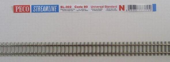 PECO SL-302 Nゲージ(9mm) フレキシブルレール(PC枕木)
