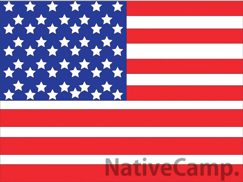 アメリカの国旗マーク