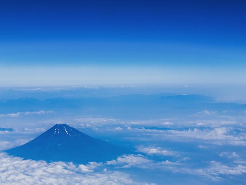 富士山を遠目から