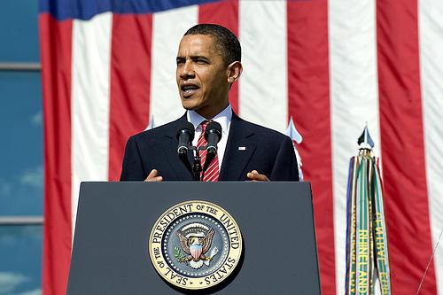 演説をするオバマ大統領