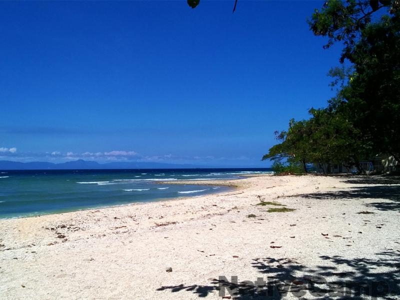 セブ島のビーチと青い空