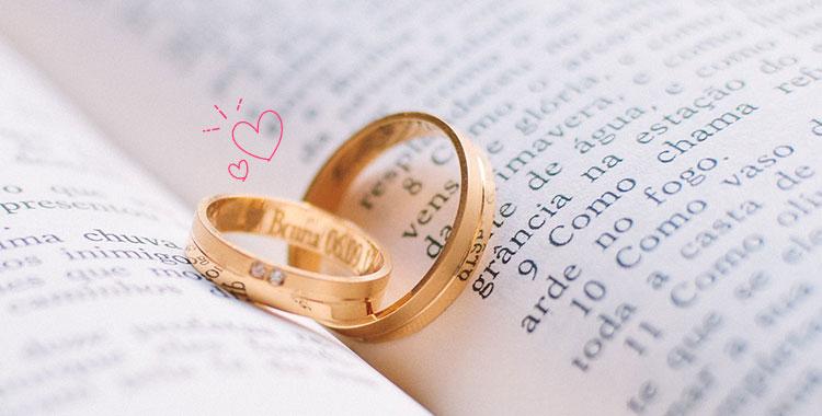 結婚指輪、結婚、イニシャル、婚約指輪
