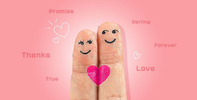 結婚指輪、愛、一単語メッセージ、LOVE