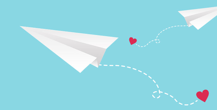メッセージ、結婚指輪、紙飛行機、告白、LOVE