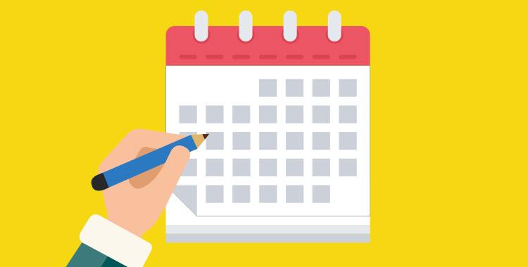 日付表記、カレンダー、イラスト