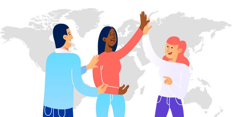 外国人、英語、英語学習、多国籍、グローバル