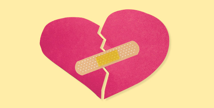 失恋、励まし、傷つき